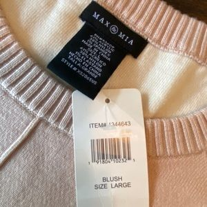 NWT Blush Colored Pullover Sweater